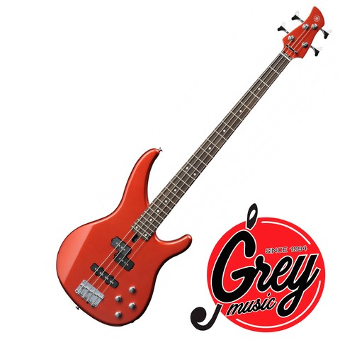 Bajo de 4 cuerdas YAMAHA color bright red metallic TRBX204brm