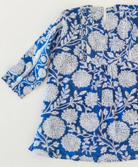 Baby Tunic Blue Flowers