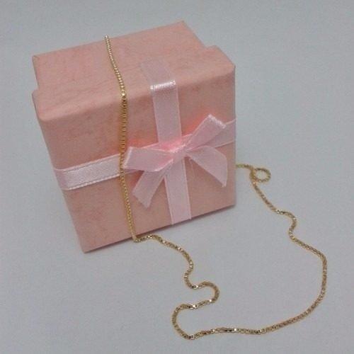 Corrente veneziana semijoia folheada ouro 18k 45cm 50cm 60cm Atacado  Revenda - comprar online ... fa7235563d