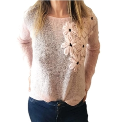 Sweater mohair rosa palido