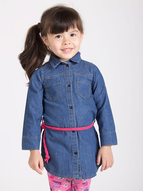 Camisa denim beba