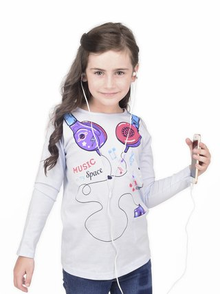 Remera Girl Headphones