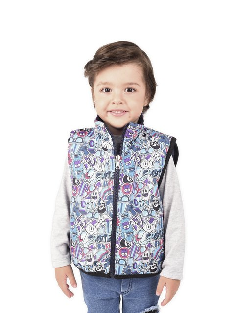 Chaleco Reversible Monster Bebe