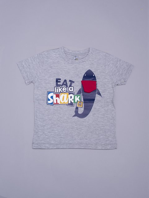REMERA EAT LIKE SHARK