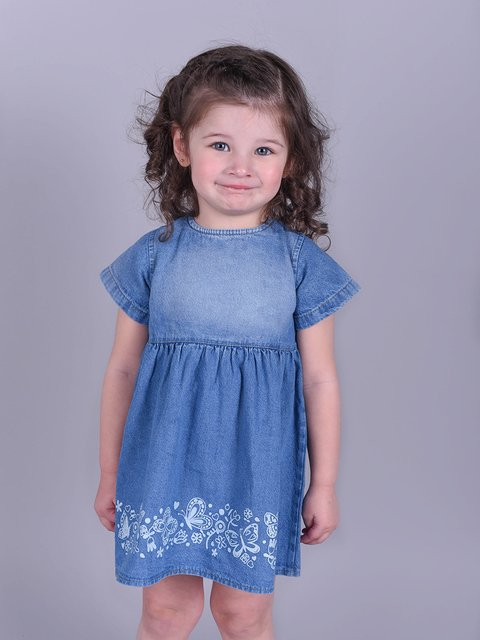 Vestido Denim Butterfly