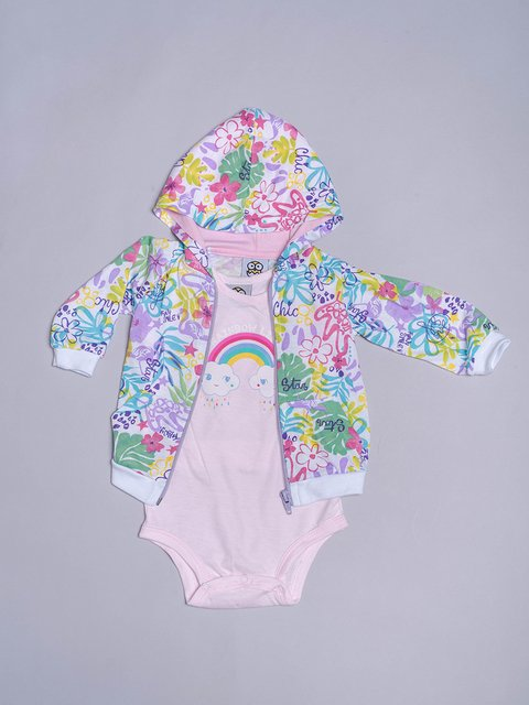 Campera y Body Rainbow