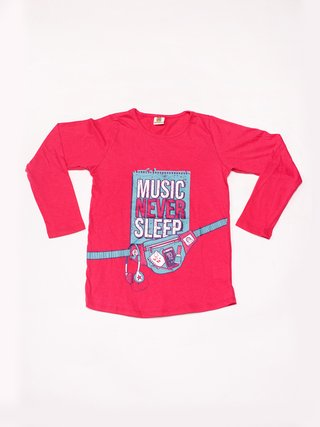 Remera Girls Headphone Fucsia