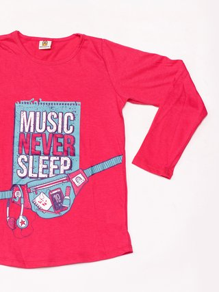 Remera Girls Headphone Fucsia - comprar online