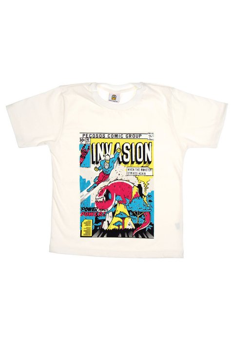 Remera Comic Glow Crudo