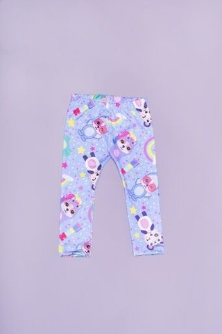 Leggings Mushi Arcoiris Celeste