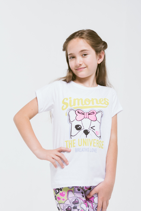 REMERA THE UNIVERSE BLANCO