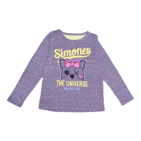 REMERA SIMONES THE UNIVERSE  GRIS