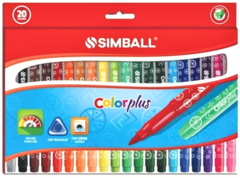 Marcadores Simball Color Plus x 20 Colores ! OFERTA !!