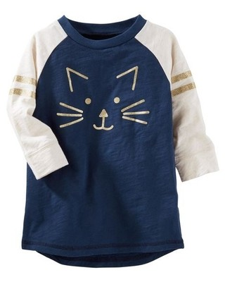 Tunica Raglan Sparkle Kitten - OshKosh B'gosh
