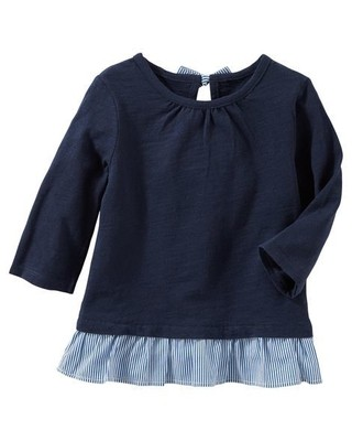 Tunica Bow-Back Peplum - Azul - OshKosh B'gosh
