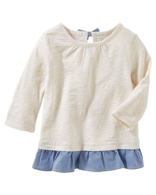 Tunica Bow-Back Peplum - Branca - OshKosh B'gosh