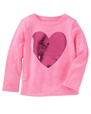 Camiseta Sequin Heart - OshKosh B'gosh