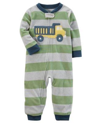 05c61216a Macacão Fleece - Verde Caminhão - Carter's