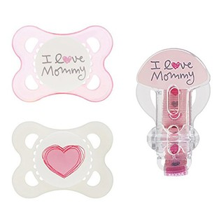 Kit de Chupeta - MAM - I Love Mommy - Rosa