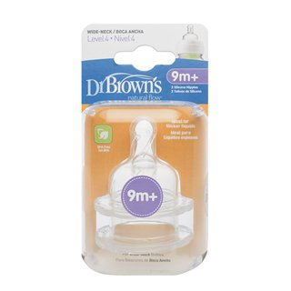 2 Bicos de Silicone Options Boca Larga FASE 4 - Dr. Brown's