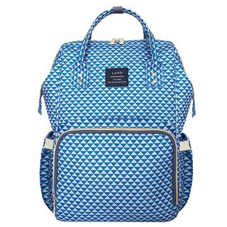 Bolsa Maternidade - Blue Plaid - LAND