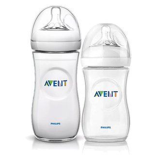 Kit de 2 Mamadeiras Pétala - 260ml e 330ml - Transparente - Philips Avent