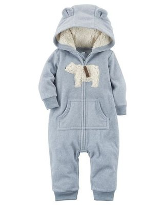 Macacão Fleece - Blue Bear - Carter's