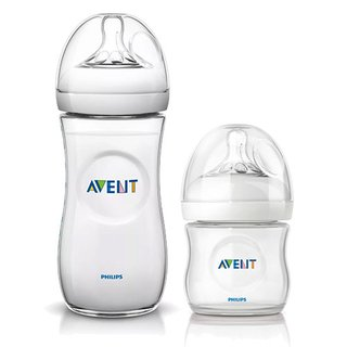 Kit de 2 Mamadeiras Pétala - 125ml e 330ml - Transparente - Philips Avent