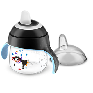 Copo Pinguim 200ml - 6m+ - Preto - Philips Avent