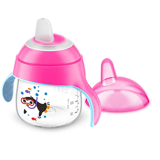 Copo Pinguim 200ml - 6m+ - Rosa - Philips Avent