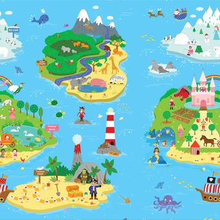 Tapete Baby Play Mat Médio - Magical Island - Safety 1st