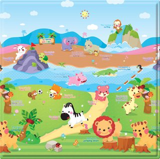 Tapete Baby Play Mat Pequeno - The Sporty Animals - Safety 1st