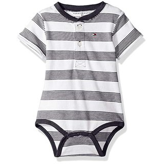 Body - Manga Curta - Striped Swim Navy - Tommy Hilfiger