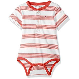 Body - Manga Curta - Striped Flame Scarlett - Tommy Hilfiger