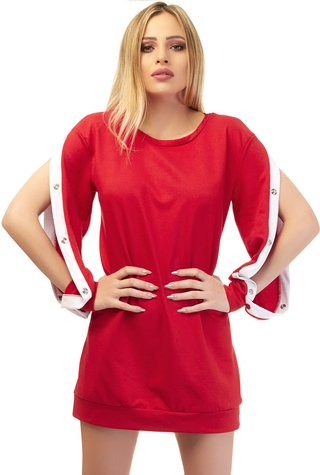 Vestido Button Red
