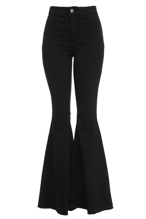 Calça Maxi Flare Denim Black