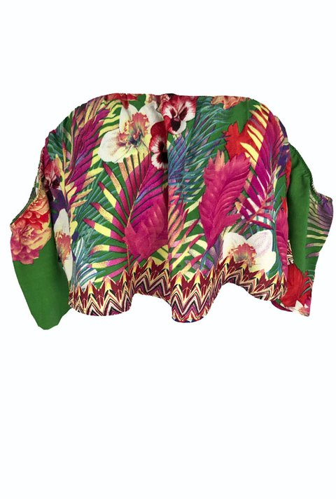Blusa Ciganinha Estampa Tropical