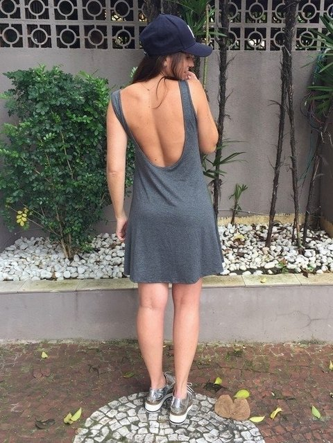 Vestido Basic Back Viscolycra Alça Regata