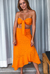 Saia Midi Laise Orange - buy online