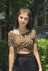 Cropped T-shirt Animal Print - comprar online