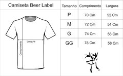 Camiseta Beer Label verde Mescla