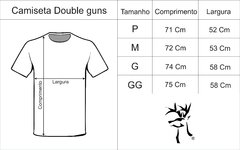 Camiseta Double Guns azul mescla