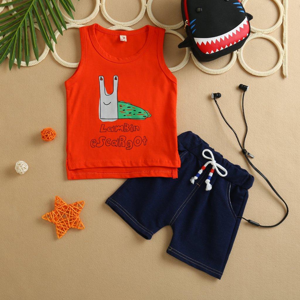 Conjunto Camiseta Regata e Shorts Infantil Escargot c1f6eccc19b