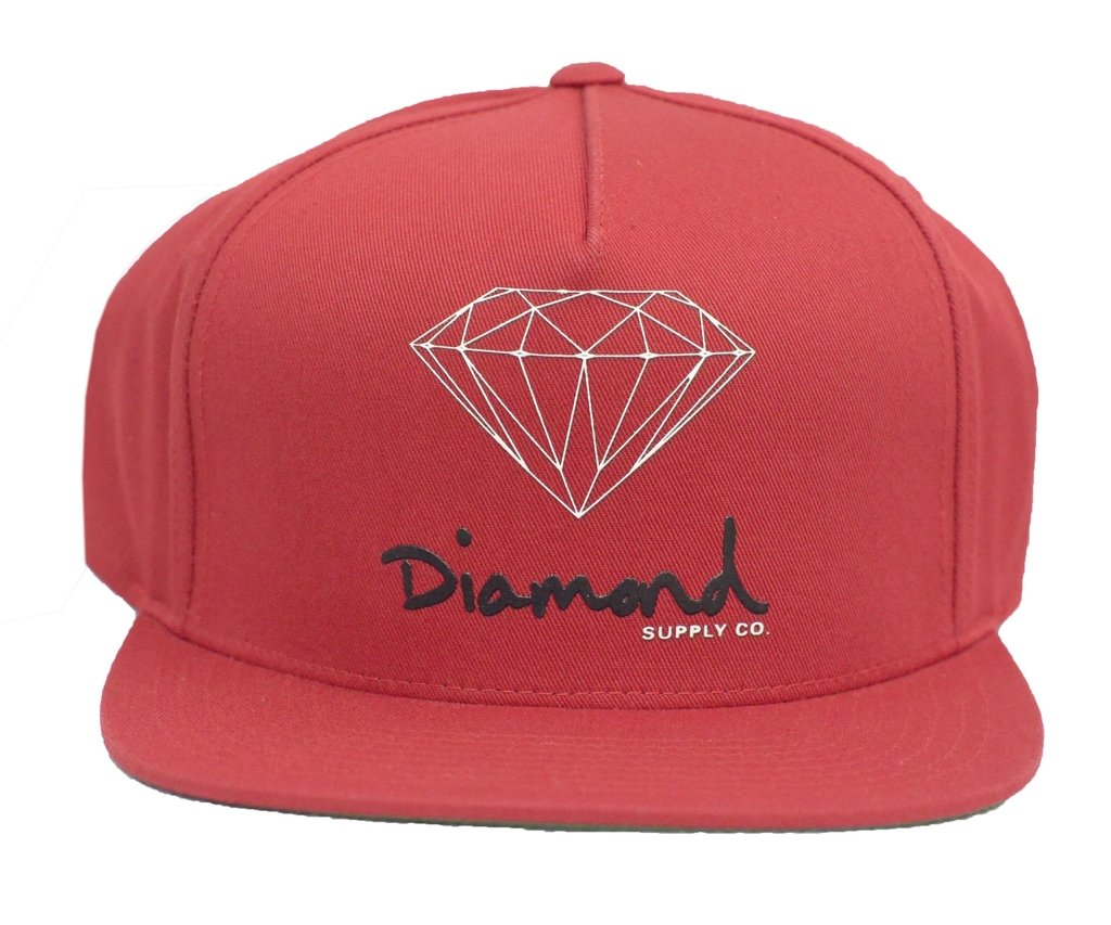 52f36890cf2a6 BONÉ DIAMOND OG SIGN SNAPBACK RED - Street 14
