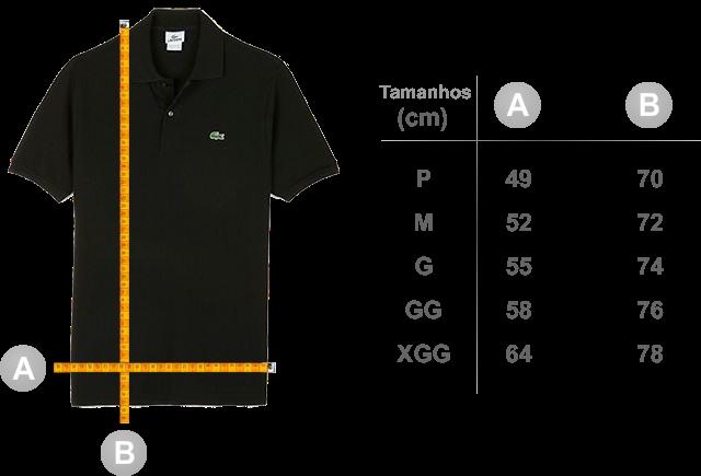 Resultado de imagem para medidas de camisas polos