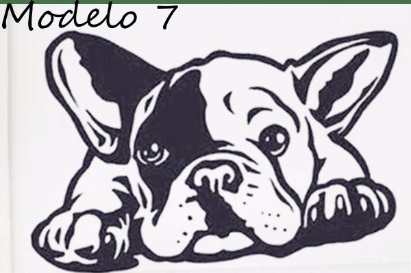 adesivo bulldog frances filhote tamanho 40x20cm em vinil
