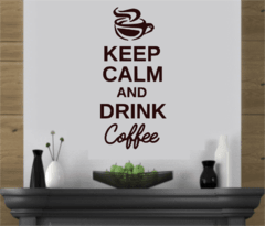 Keep Calm And Drink Coffee 45 Cm Adesivo De Parede na internet
