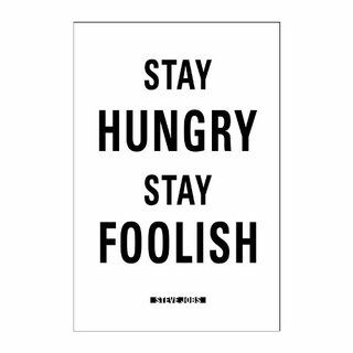 Cuadro Focu Deco Lienzo Canvas 20x30 Stay Hungry- Steve Jobs