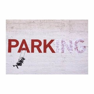 Cuadro Focu Deco En Lienzo Canvas 20x30 Banksy - Parking