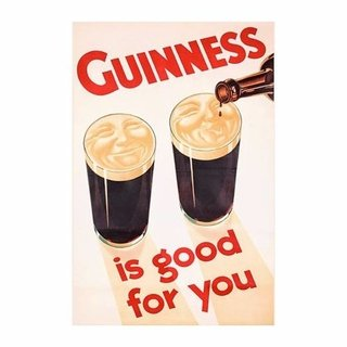 Cuadro Focu Deco Lienzo Canvas 20x30 Guinness Is Good For You